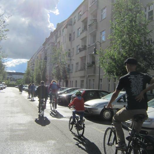 Fahrradkolonne